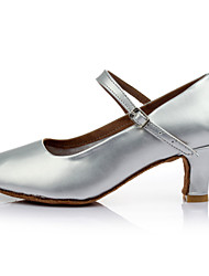 Dansesko (Sort / Sølv / Guld) - Kan tilpasses - Personligt tilpassede hæle - Damer - Latin / Moderne