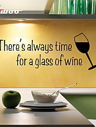 cheap -New Pattern A Glass Of Wine Removable Waterproof Wall Sticker Home Decor Vinyl Wall Decal