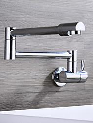 economico -muro hpb® montato manico singolo un foro con cucina rubinetto cromato