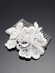 cheap -Rhinestone Alloy Hair Combs 1 Wedding Special Occasion Headpiece