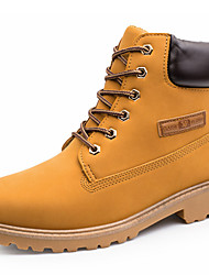 cheap -Men's Shoes Synthetic Winter Fall Combat Boots Bootie Boots Booties/Ankle Boots Lace-up for Casual Outdoor Black Yellow Coffee