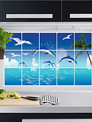 cheap -Aluminum Foil Kitchen Oil Proof Wall Stickers