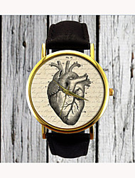 cheap -Vintage Heart Watch Leather Fashion Watch Ladies Watch Womens Watch Men's Watch Gift for Her Gift Idea Custom Watch Cool Watches Unique Watches