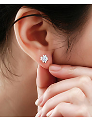 cheap -Lureme®  Korean Fashion 925  Sterling Silver Crystal Clover Hypoallergenic Earrings