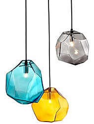 cheap -G9 220V 18x18CM Creative Ice Crystal Personality Glass Diamond Pendant Chromatic Droplight Lamp Led Light