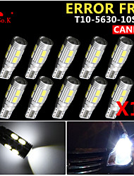 10x Canbus Wedge T10 White 192 168 194 W5W 10 5630 SMD LED Light Lamp Bulb Error Free 12V