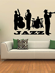 Wall Stickers Wall Decals Style Jazz Band PVC Wall Stickers