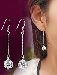 cheap -Lureme®  Korean Fashion 925  Sterling Silver Studded With Drill Shambhala Tassels Earrings