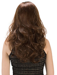 High Quality Temperament Capless Synthetic Brown Color Long Wavy Synthetic Wigs