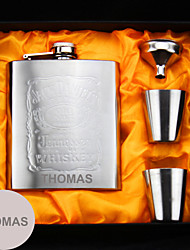 cheap -Stainless Steel Hip Flasks Bride Groom Bridesmaid Groomsman Congratulations