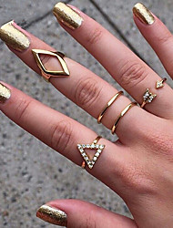 European Style Fashion Metal Wild Personality Ring Set Elegant Style