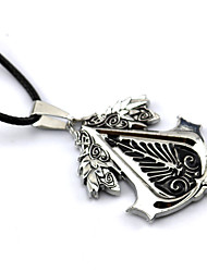cheap -Jewelry Inspired by Assassin's Creed Connor Anime/ Video Games Cosplay Accessories Necklace Black / Red / Yellow Alloy Male