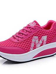 Feminino Sapatos Náilon Primavera Verão Outono Inverno Conforto Inovador Fitness Cadarço Para Cinzento Vermelho Azul
