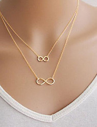 cheap -Women's Infinity Basic Double-layer Pendant Necklace Alloy Pendant Necklace , Party Daily Casual