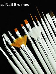 economico -kuas nail art set, 15 pc Putih gel dekorasi, pena Lukisan, peralatan profesional, alat gambar