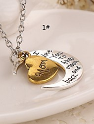 cheap -Pendant Necklace - Cross, Heart Initial 7#, 8#, 9# Necklace Jewelry For Thank You, Daily, Casual