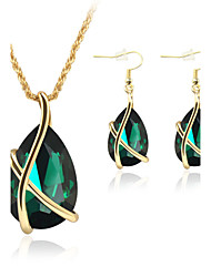 cheap -Jewelry 1 Pair of Earrings Necklaces Crystal Wedding Party Crystal Alloy 1set Women Black White Red Blue Green Wedding Gifts