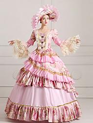 cheap -Classic Lolita Dress Steampunk® Victorian Lace Satin Women's Dress Cosplay Long Sleeve Long Length Halloween Costumes