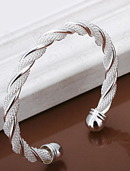 Twisted shape silver bracelet Christmas Gifts