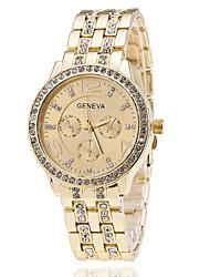 Mulheres Relógio de Moda Simulado Diamante Relógio Relógio Elegante Quartzo imitação de diamante Aço Inoxidável Banda Elegant Prata