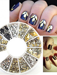 - Finger - Nail Schmuck - Kunststoff / Metall - 200 Stück - 6*6*1 cm