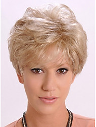 Beautiful Blonde Short Synthetic Hair Wave Wig Real High Quality Enough Inventory
