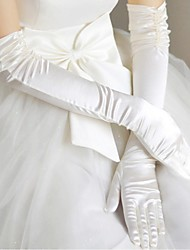 cheap -Satin Polyester Opera Length Glove Classical Bridal Gloves With Solid