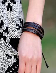 cheap -Lureme® Fashion Men's Hand-Woven Leather Bracelet