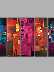 Five Panel Abstract Oil Paintings in High Quality Home Decoration