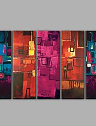 Недорогие -пять абстрактных масляных картин в высоком качестве домашнего декора