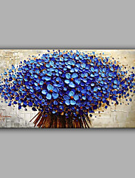 Hand-Painted Floral/Botanical Horizontal,Modern One Panel Canvas Oil Painting For Home Decoration