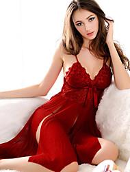 economico -Per donna Completi Completini con top Sensuale Body Uniformi e abiti tradizionali cinesi Indumenti da notte Cotone Chiffon Di pizzo