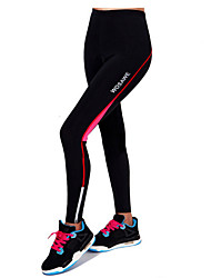 cheap -Women's Cycling Tights Bike Bottoms 3D Pad, Breathable, Reflective Strips Red / Green Bike Wear