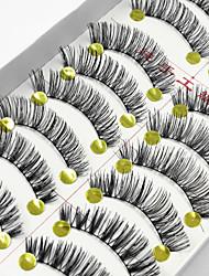 cheap -10 Eyelashes lash Full Strip Lashes Natural Long Lengthens the End of the Eye Eyelash Full Strip Lashes Natural Long Lengthens the End of