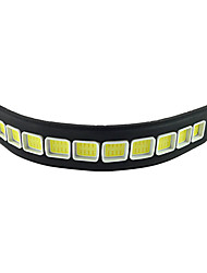 cheap -2Pcs Waterproof Flexible Silicon 10 LED 10W COB 26cm 600LM White Light LED Daytime Running Light (DC12V)