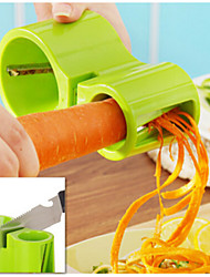 cheap -3 in 1  Amphibious Grater Shredder Spiral Cutter+Sharpener Shred Vegetables Device Tools Random Color