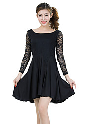 cheap -Latin Dance Dresses Women's Training Lace Milk Fiber Lace 2 Pieces Dress Shorts