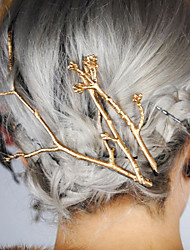 cheap -Women's Casual Retro Alloy Tree Branches Pattern Hair Clips Hairpin Hair Accessories 1pc