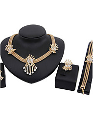 cheap -Women's Jewelry Set - Rhinestone, Gold Plated Luxury, Vintage, Party Include Drop Earrings Pendant Necklace For Party Special Occasion Anniversary / Birthday / Gift