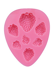 cheap -7 Holes Strawberry Shaped Silicone Molds Sugar Paste Fondant Soap Mold Cake Chocolate Moulds Baking Tools SM-110