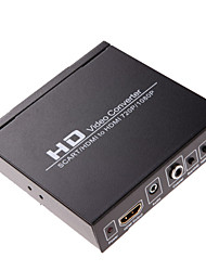 economico -hd video converter HDMI o SCART per l'uscita HDMI 1080p 720p uscita audio coassiale PAL tasto / NTSC
