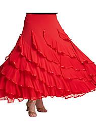 Недорогие -Бальные танцы Балетные пачки и юбки Жен. Выступление Молочное волокно Драпировка Юбки / Современные танцы