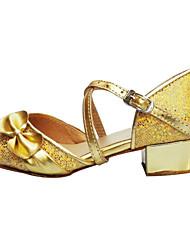 Nemoguće personalizirati - Ženske / Dječje - Plesne cipele - Latino - Svjetlucave šljokice / Sitne šljokice - Niska potpetica -Ružičasta