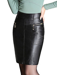 cheap -Women PU Skirt , Belt Not Included