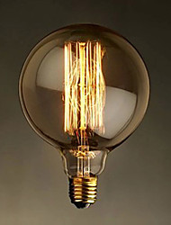 E27 G125 40W Straight Bulb Wire Bulb Bulb Edison G125 Retro Decorative Bulbs