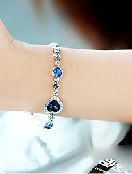 cheap -Women's Crystal Crystal Strand Bracelet - Multi Layer LOVE Blue Bracelet For Party Daily Casual