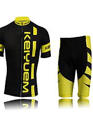 KEIYUEM Maglia con pantaloncini da ciclismo Per donna Unisex Manica corta Bicicletta Manicotti Maglietta/Maglia Pantaloncini /Cosciali