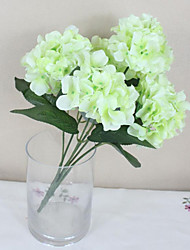 povoljno -1 Podružnica Polyester Hortenzije Cvjeće za stol Umjetna Cvijeće