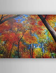 baratos -Pintados à mão Paisagens AbstratasModerno 1 Painel Tela Pintura a Óleo For Decoração para casa