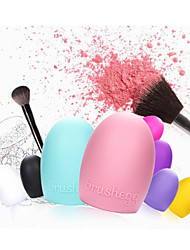 cheap -1Pcs Creative wash artifact silicone wash egg makeup tool wash gloves 6 color optional